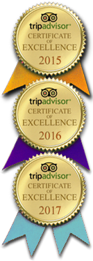 Tripadvisor 2015-2017 Certificate of Excellence