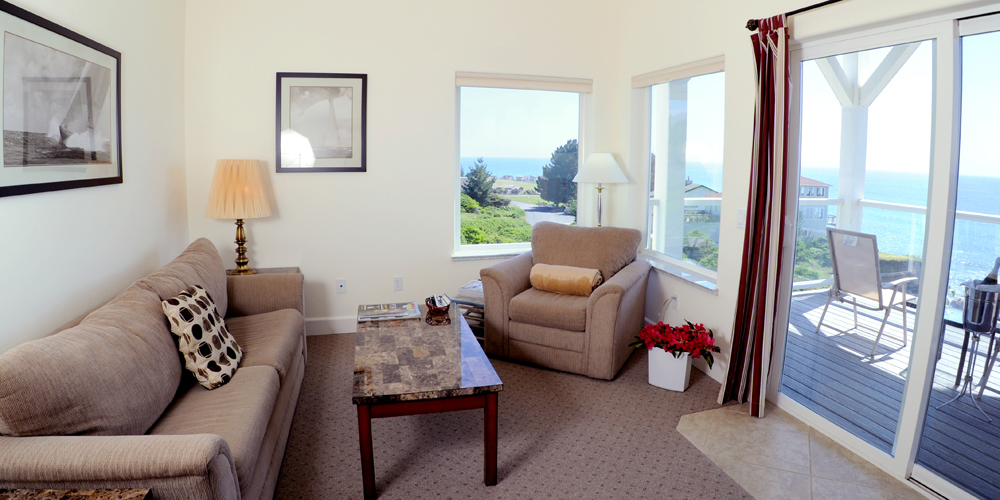 comfortable furnishings and gorgeous views