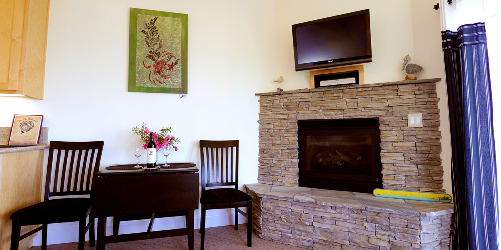 The Spyglass suite has a spacious and comfortable living room