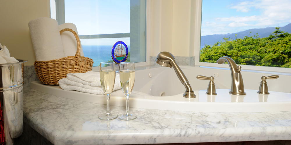 Sip a glass of champagne and enjoy a relaxing getaway.